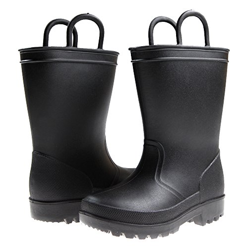 Capelli New York Matte Solid Opaque Toddler Boys Rain Boot...