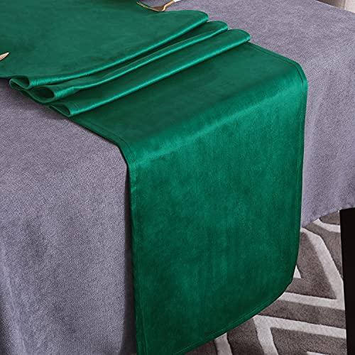 WAITER TREE Camino de Mesa Corredor por Cocina Impermeable Decoración para Fiesta Comedor (Verde Oscuro, 35x180cm)