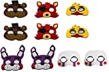 10 Pack Five Nights of Freddy's Masks Kids Cosplay Costume Party Favors Supplies Fazbear Bonnie Foxy Puppet
