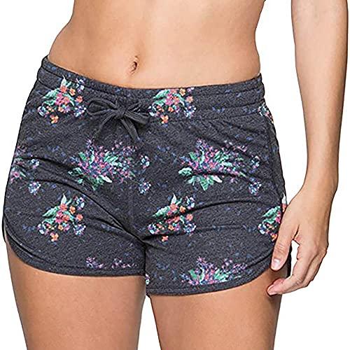 ArcherWlh Leggings Push Up,Imprimir Pantalones Cortos de Yoga Pantalones Deportivos Pan Apretado Pantalones Calientes-Fuegos Artificiales Negros_S