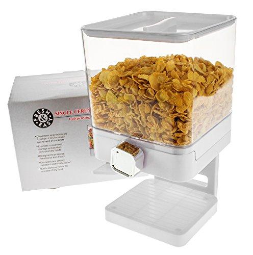 United Entertainment - Dispensador de cereales / dispensador de cereales / dispensador individual para cereales, cereales y cereales - Blanco Luxury