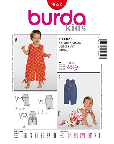 Burda Schnittmuster 9652 Overall Gr. 68-98 (Sizes 6M-3)