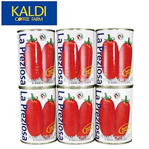 <6缶セット> ラ・プレッツィオーザ ホールトマト缶 400g×6缶