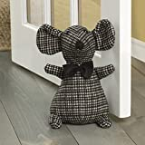 "Elements 5218432 Decorative Polyester Door Stop, 10"", Checkered Mouse"