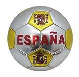 YUDA BALÓN DE Futbol, Talla 5, Pelotas de fútbol, Paneles hexagonales y pentagonales (ESPAÑA Plateado)