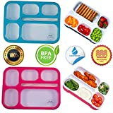 Adult Bento Box Kids Lunch Box 2-Pack - BPA-Free Bento Box for Portable Healthy Meals. Microwave &...