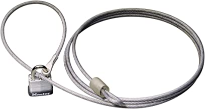Master Lock 715DAT Braided Steel Car Cover Cable with Laminated Steel Padlock, 7 ft cable and 1-1/8 in. Wide Lock