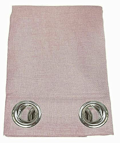 Pannello Arredo Casa Tenda Semicoprente Canapone da Arredamento con Anelli Borchie 140x280 cm Tinta Unita Misura Vari Colori (140X290, LVC-6 Rosa)