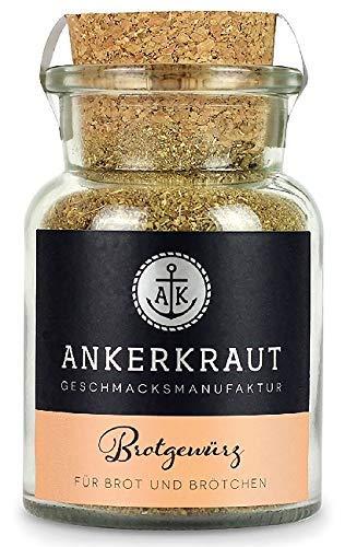 Ankerkraut Brotgewürz Hamburg, Brotgewürzmischung zum selber backen von Brot und Brötchen, 85g im Korkenglas