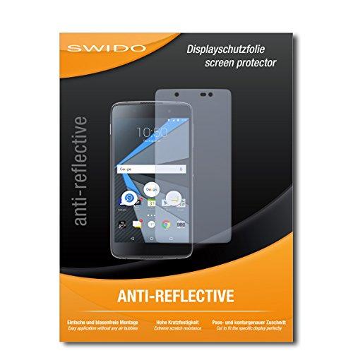 SWIDO Bildschirmschutz für BlackBerry DTEK60 [4 Stück] Anti-Reflex MATT Entspiegelnd, Hoher Festigkeitgrad, Schutz vor Kratzer/Glasfolie, Schutzfolie, Bildschirmschutzfolie, Panzerglas Folie