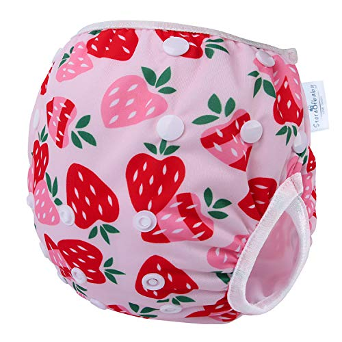 Storeofbaby Reusable Baby Swim Diaper Adjustable Swimwear for Toddlers 0-3 Years