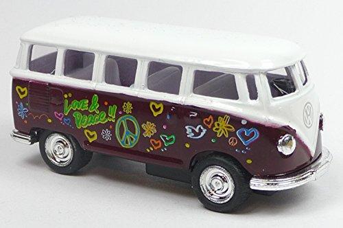 VW T1 1962 Hippi Bus rot 1:64 Bulli...
