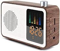 ベッドサイドカラーledスクリーン電子目覚まし時計レトロブルートゥースオーディオ時計ミニラジオホームデスクトップデジタル目覚まし時計デジタル目覚まし時計