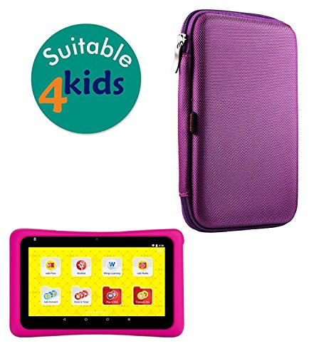 Navitech Purple Hard Protective Case Cover for The Barbie Tablet. Powered by nabi.