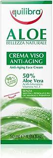 Equilibra Viso, Aloe Crema Viso Anti-Aging, Crema Viso Antirughe a Base di Aloe Vera, ad Azione Idratante, Lenitiva e Prot...