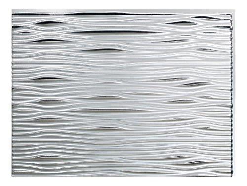Fasade Easy Installation Waves brushed aluminum Backsplash panel pannello per cucina e bagno (45,7x 61cm)