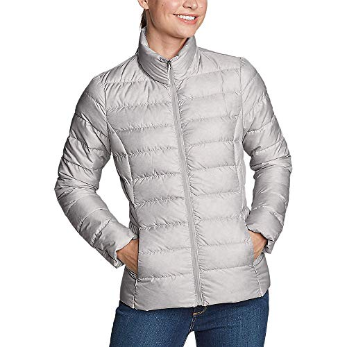 Eddie Bauer Women's CirrusLite Down Jacket, Lt Gray Regular XL