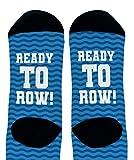 Row Accessories Ready To Row Hidden Message Socks Rowing Crew Socks 1-Pair Novelty Crew Socks