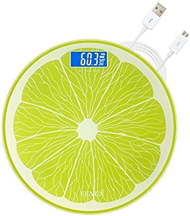 Venus H4-FIYY-P5EV Rechargeable Personal Electronic Digital LCD Weight Machine (Lemon)