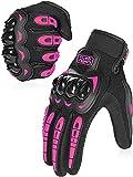 COFIT Guanti da Moto, Touchscreen sulle Dita, Guanti per corse in Motocicletta, per guidare Quad (ATV), per Arrampicata, Escursioni e Altri Sport All'aperto - Rosa XL