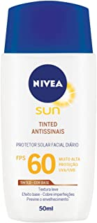 Protetor Solar Nivea Sun Facial Seco Fps60 50ml, Nivea