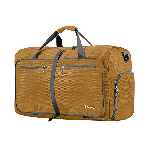 Gonex 40L Foldable Sport Duffles Packable Carry On Travel Holdall Bag, Sports Bag Gym Bag with Shoes Compartment, Swimming Yoga Holiday Luggage, Camping kit Bag