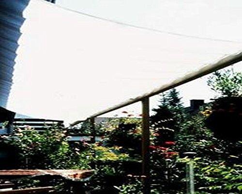 PEGANE Voile Solaire Ivoire avec 26 Crochets de Guidage en Polyester Anti-UV, 330 x 200 cm
