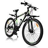 BESPORTBLE Mountain Bike with Aluminum Frame Suspension, 21 Speed Drivetrain, Shimano derailleur System, Mechanical Disc Brakes Mountain Bicycle for Men Women Adult
