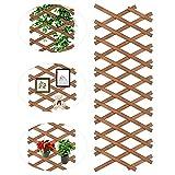 YAIKOAI Fioriera da parete in legno da giardino, recinzione estendibile da parete, supporto per rampicanti