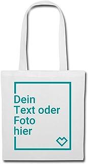 Spreadshirt Personalisierbarer Beutel Selbst Gestalten mit Foto und Text Wunschmotiv Stoffbeutel