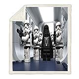 WTTING Star Wars Decke – Star Wars Baby Decke – 3D Druck Decke – Flanell Cartoon für Kinder und Erwachsene (C,100 x 140 cm)