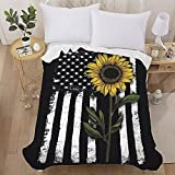 SEISYUKU American Flag Flannel Bed Blanket and Throw Classic USA Flag Soft Warm Throw Blanket for Bed Sofa Couch 50'x60'