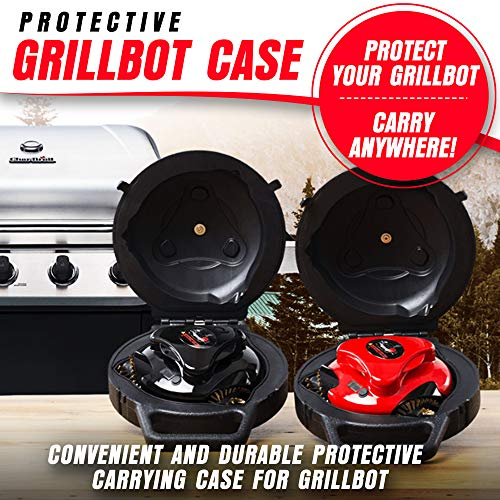 Grillbot Automatic Grill Cleaning Robot with Carrying Case - BBQ Grill Cleaner - Grill Brush - Grill Scraper - BBQ Accessories, Black