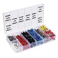 ボックス筒状端子様々なスタイルの電気配線用コネクタの絶縁チューブ端子0.5mm2-10mm2ワイヤーに設定します