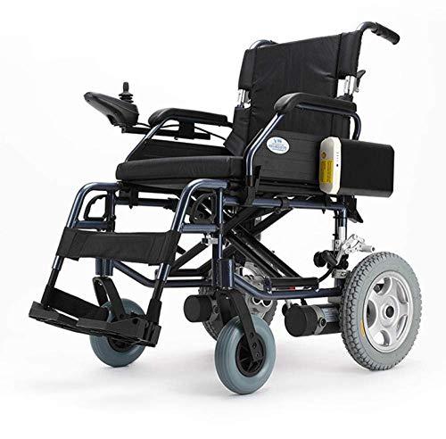 SILOLA Faltbarer tragbarer elektrischer Rollstuhl - Schwarz Ergonomisch geeignet für ältere Menschen und Reisende