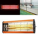 Luoshan 220V 1050W de luz infrarroja de Calor secador de pulverización de Pintura Calefacción Cura la luz de bicarbonato de Cabina Calentador