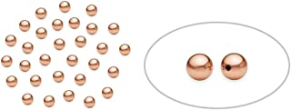 100 Pieces Small 2.5 mm14K Rose Gold Filled Round Beads