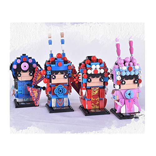 H-ei 3D Doll Assembly Model, Chinese Peking Opera Character Ornaments, Small Building Blocks (Color : All)