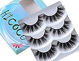 3D Mink lashes 3 Pairs 3 styles Mix Long Thick False Lashes Fluffy Fake Eyelashes