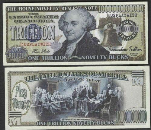 One Trillion Novelty Bucks w John Portland Mall Money - Dollar Super beauty product restock quality top Adams Lot Play