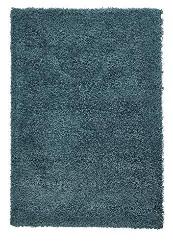 Think Rugs Vista Teppich, Hochflor, 100% Polypropylen, groß, einfarbig
