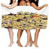 Cute Doormat Minions - Toalla de playa para niños, ultra suave, superabsorbente, algodón, 80 x 130 cm, algodón, uso al aire libre, para niños y niñas