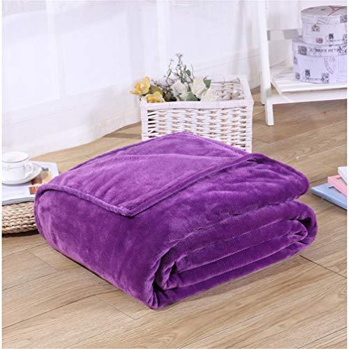 empty flanel blanket, purple microvezel polyester blankets voor slaapbank, bank, stoel, thuis textiel