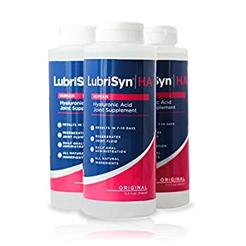 LubriSynHA Human Joint Supplement Original 3 x 11.5oz – All-Natural High-Molecular Weight Hyaluronic Acid HA - Joint Support for Women & Men – Promotes Healthy Joint Function Made in USA Vegan
