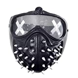 Watch Dogs Mask Game Marcus Holloway Wrench Cosplay Party Halloween Props (Black)