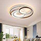 LCTCXD 3-anello LED a soffitto circolare, LED dimmerabili Lampadario a filo della lampada in metallo Monte soffitto, con il contro a distanza, 3000K - 6500K, for soggiorno/camera/studio, 68W