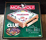 Hasbro Parker Brother Wooden Board Games, Monopoly, Clue Plus 6 Other Board Games