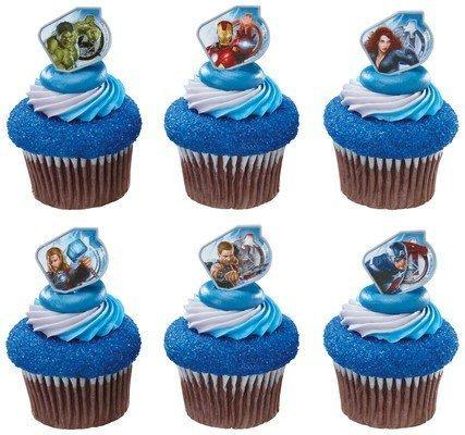 Captain America and the Avengers Super Hero Rings (36 pc) Cupcake...