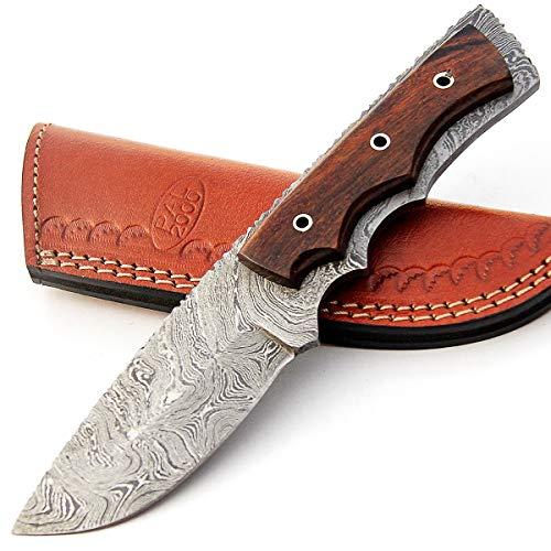 PAL 2000 - Cuchillos de Acero Damasco de Damasco de 7,6 cm - Cuchillo de Chef de Acero de Damasco - El Mejor Cuchillo de Cocina Hecho a Mano con Vaina, Comprar con Confianza 9410