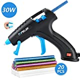 TOPELEK Hot Glue Gun, 30W Glue Gun Kit with Longer Handle, 3 Finger Protectors, 20pcs Glue Sticks, Melting Gun...